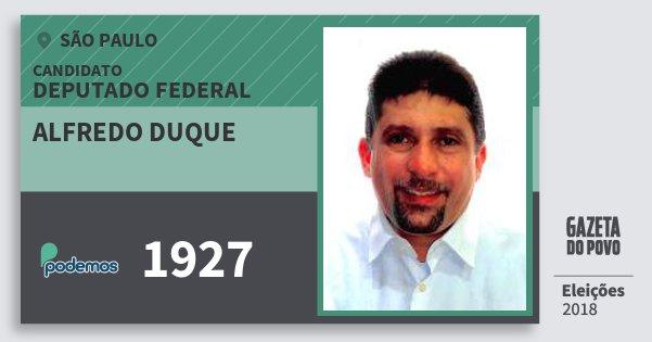 Santinho Alfredo Duque 1927 (PODE) Deputado Federal | São Paulo | Eleições 2018