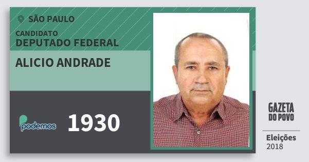 Santinho Alicio Andrade 1930 (PODE) Deputado Federal | São Paulo | Eleições 2018