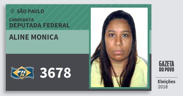 Santinho Aline Monica 3678 (PTC) Deputada Federal | São Paulo | Eleições 2018