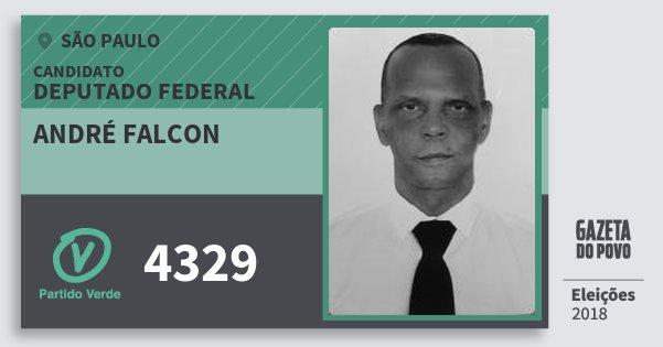 Santinho André Falcon 4329 (PV) Deputado Federal | São Paulo | Eleições 2018