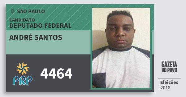 Santinho André Santos 4464 (PRP) Deputado Federal | São Paulo | Eleições 2018