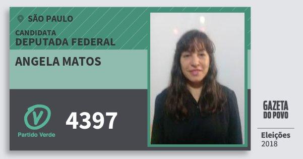 Santinho Angela Matos 4397 (PV) Deputada Federal | São Paulo | Eleições 2018