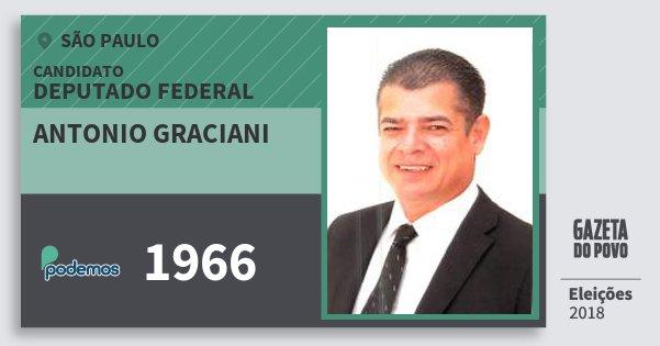 Santinho Antonio Graciani 1966 (PODE) Deputado Federal | São Paulo | Eleições 2018