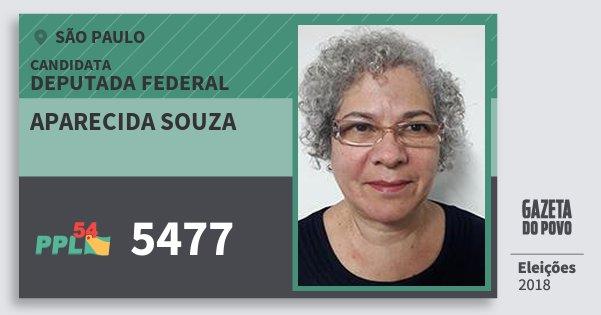 Santinho Aparecida Souza 5477 (PPL) Deputada Federal | São Paulo | Eleições 2018