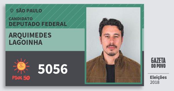 Santinho Arquimedes Lagoinha 5056 (PSOL) Deputado Federal | São Paulo | Eleições 2018