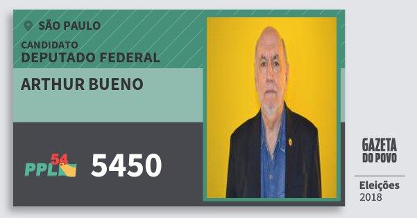 Santinho Arthur Bueno 5450 (PPL) Deputado Federal | São Paulo | Eleições 2018