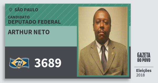 Santinho Arthur Neto 3689 (PTC) Deputado Federal | São Paulo | Eleições 2018
