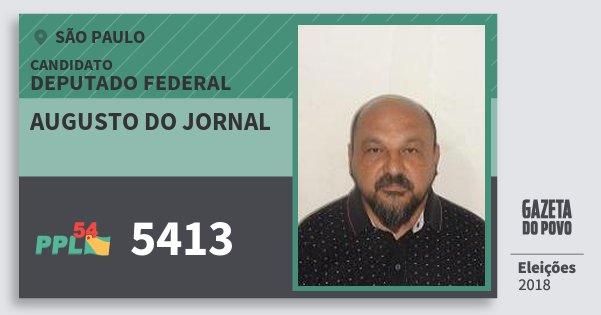 Santinho Augusto do Jornal 5413 (PPL) Deputado Federal | São Paulo | Eleições 2018