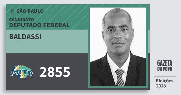 Santinho Baldassi 2855 (PRTB) Deputado Federal | São Paulo | Eleições 2018