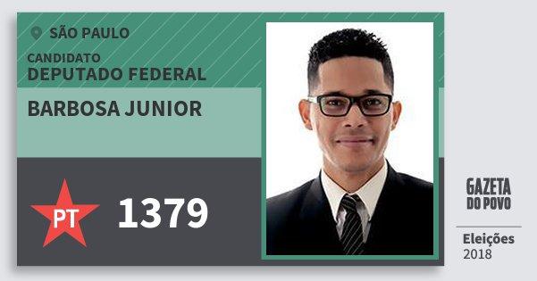 Santinho Barbosa Junior 1379 (PT) Deputado Federal | São Paulo | Eleições 2018