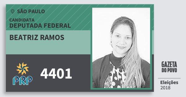 Santinho Beatriz Ramos 4401 (PRP) Deputada Federal | São Paulo | Eleições 2018