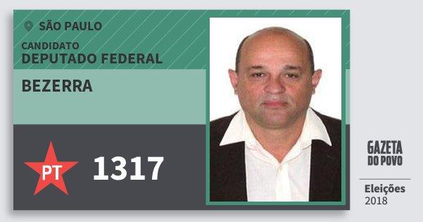 Santinho Bezerra 1317 (PT) Deputado Federal | São Paulo | Eleições 2018