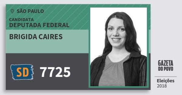 Santinho Brigida Caires 7725 (SOLIDARIEDADE) Deputada Federal | São Paulo | Eleições 2018