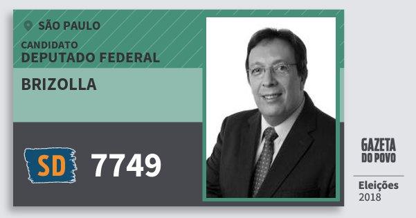 Santinho Brizolla 7749 (SOLIDARIEDADE) Deputado Federal | São Paulo | Eleições 2018