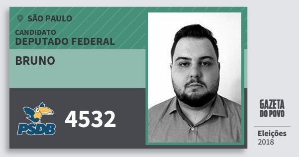 Santinho Bruno 4532 (PSDB) Deputado Federal | São Paulo | Eleições 2018