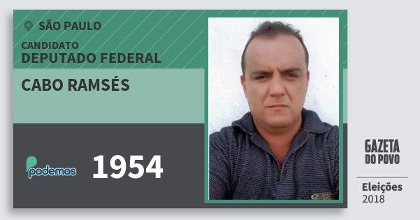 Santinho Cabo Ramsés 1954 (PODE) Deputado Federal | São Paulo | Eleições 2018