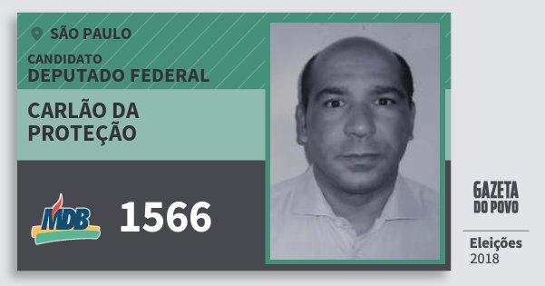 Santinho Carlão da Proteção 1566 (MDB) Deputado Federal | São Paulo | Eleições 2018