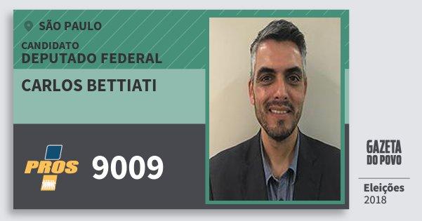 Santinho Carlos Bettiati 9009 (PROS) Deputado Federal | São Paulo | Eleições 2018