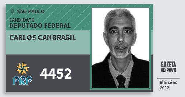 Santinho Carlos Canbrasil 4452 (PRP) Deputado Federal | São Paulo | Eleições 2018