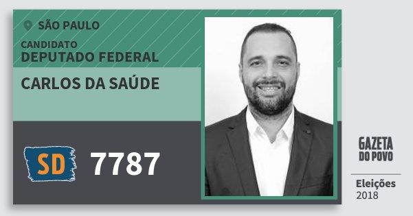 Santinho Carlos da Saúde 7787 (SOLIDARIEDADE) Deputado Federal | São Paulo | Eleições 2018
