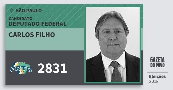 Santinho Carlos Filho 2831 (PRTB) Deputado Federal | São Paulo | Eleições 2018