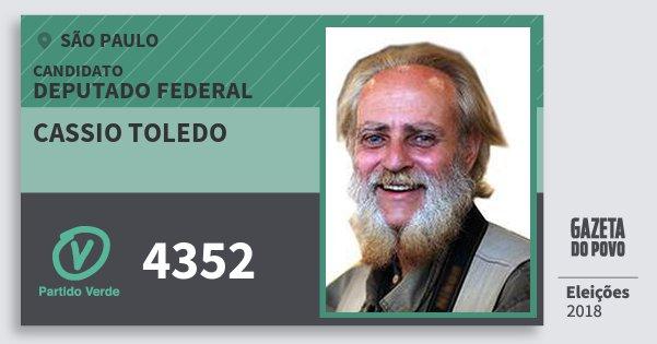 Santinho Cassio Toledo 4352 (PV) Deputado Federal | São Paulo | Eleições 2018