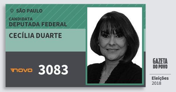 Santinho Cecília Duarte 3083 (NOVO) Deputada Federal | São Paulo | Eleições 2018