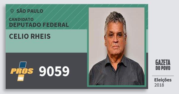 Santinho Celio Rheis 9059 (PROS) Deputado Federal | São Paulo | Eleições 2018
