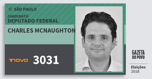 Santinho Charles Mcnaughton 3031 (NOVO) Deputado Federal | São Paulo | Eleições 2018