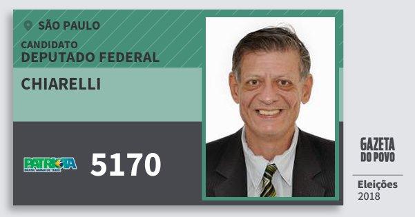 Santinho Chiarelli 5170 (PATRI) Deputado Federal | São Paulo | Eleições 2018