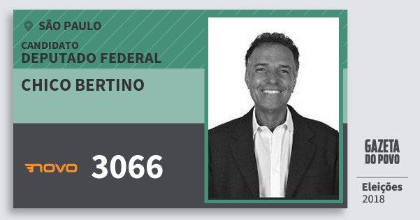 Santinho Chico Bertino 3066 (NOVO) Deputado Federal | São Paulo | Eleições 2018