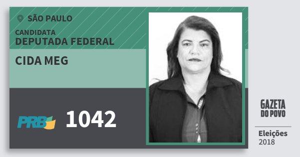 Santinho Cida Meg 1042 (PRB) Deputada Federal | São Paulo | Eleições 2018