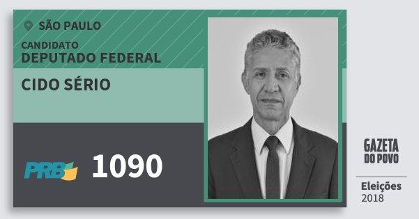 Santinho Cido Sério 1090 (PRB) Deputado Federal | São Paulo | Eleições 2018