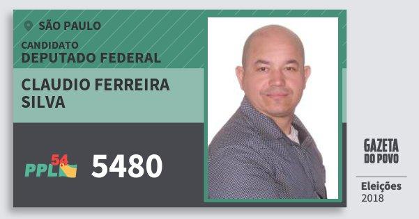 Santinho Claudio Ferreira Silva 5480 (PPL) Deputado Federal | São Paulo | Eleições 2018