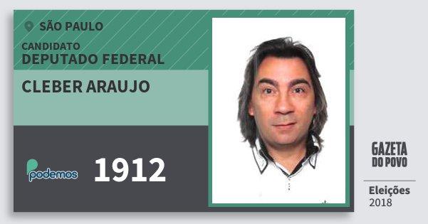 Santinho Cleber Araujo 1912 (PODE) Deputado Federal | São Paulo | Eleições 2018