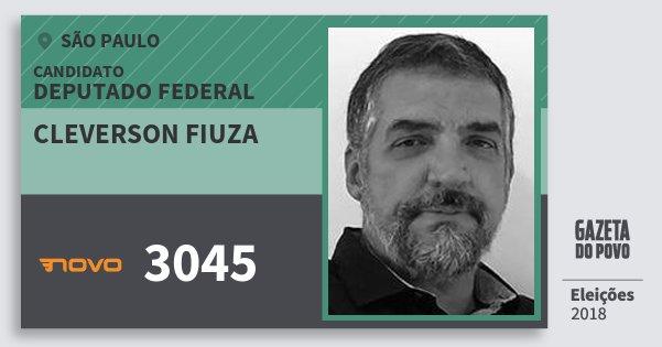 Santinho Cleverson Fiuza 3045 (NOVO) Deputado Federal | São Paulo | Eleições 2018