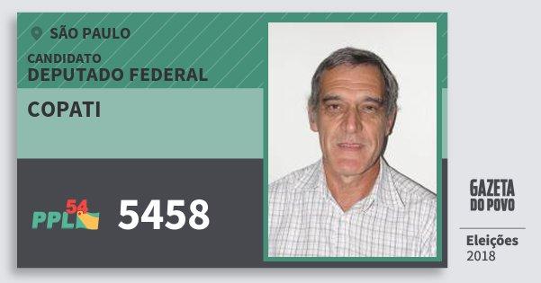 Santinho Copati 5458 (PPL) Deputado Federal | São Paulo | Eleições 2018