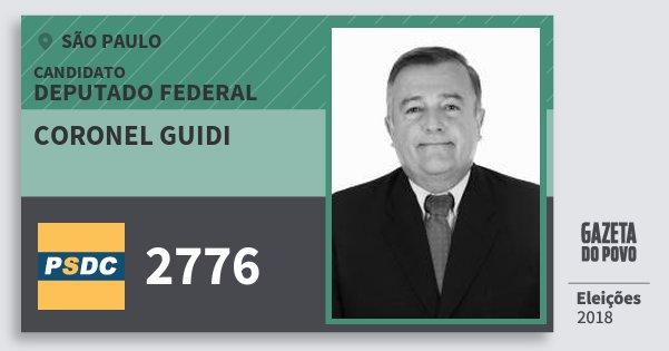 Santinho Coronel Guidi 2776 (DC) Deputado Federal | São Paulo | Eleições 2018