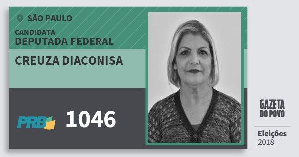 Santinho Creuza Diaconisa 1046 (PRB) Deputada Federal | São Paulo | Eleições 2018