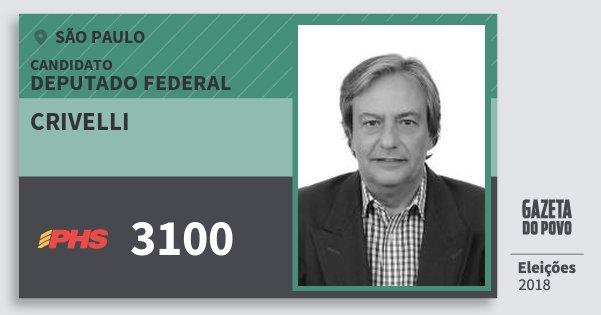 Santinho Crivelli 3100 (PHS) Deputado Federal | São Paulo | Eleições 2018
