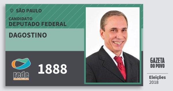 Santinho Dagostino 1888 (REDE) Deputado Federal | São Paulo | Eleições 2018