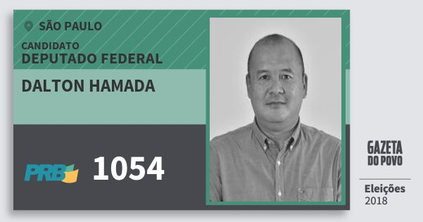 Santinho Dalton Hamada 1054 (PRB) Deputado Federal | São Paulo | Eleições 2018