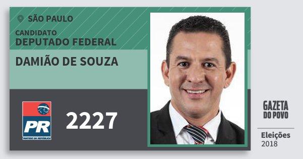 Santinho Damião de Souza 2227 (PR) Deputado Federal | São Paulo | Eleições 2018