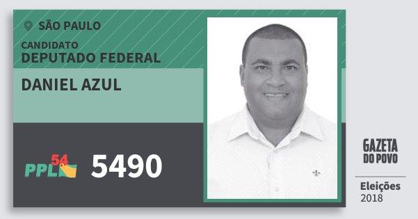Santinho Daniel Azul 5490 (PPL) Deputado Federal | São Paulo | Eleições 2018