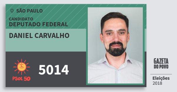 Santinho Daniel Carvalho 5014 (PSOL) Deputado Federal | São Paulo | Eleições 2018