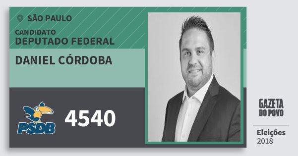 Santinho Daniel Córdoba 4540 (PSDB) Deputado Federal | São Paulo | Eleições 2018
