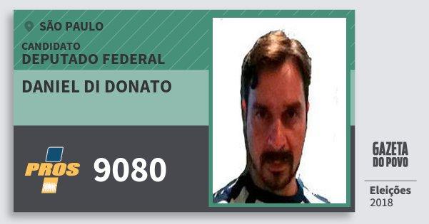 Santinho Daniel di Donato 9080 (PROS) Deputado Federal | São Paulo | Eleições 2018