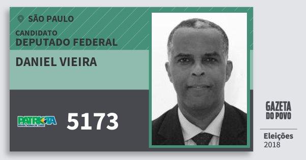 Santinho Daniel Vieira 5173 (PATRI) Deputado Federal | São Paulo | Eleições 2018