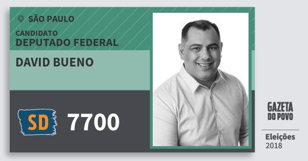 Santinho David Bueno 7700 (SOLIDARIEDADE) Deputado Federal | São Paulo | Eleições 2018