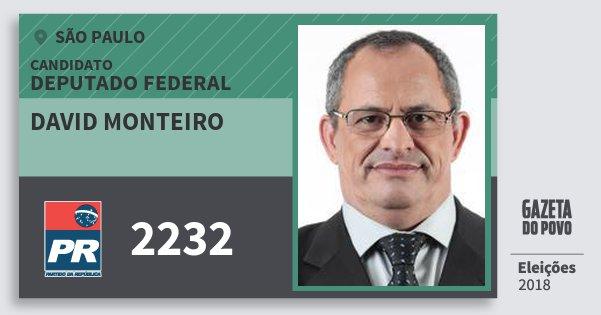 Santinho David Monteiro 2232 (PR) Deputado Federal | São Paulo | Eleições 2018